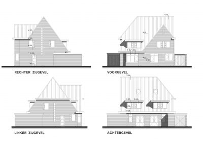 BouwAdviesNL Tekening Omgevingsvergunning Nieuwbouw woning 2 onder 1 kap 4