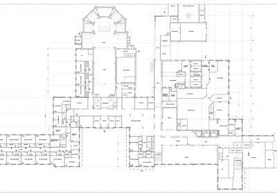 Inmeten bestaande situatie gebouwen klooster 03 plattegrond BouwAdviesNL