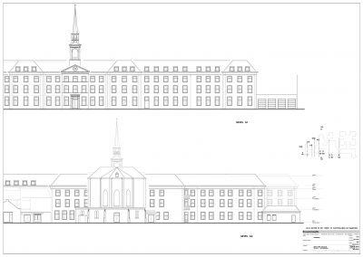 Inmeten bestaande situatie gebouwen klooster 05 gevels BouwAdviesNL
