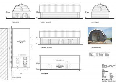 Nieuwbouw schuur aanvraag vergunning tekening schuur 02 BouwAdviesNL