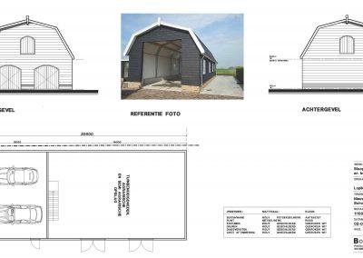 Nieuwbouw schuur aanvraag vergunning tekening schuur 03 BouwAdviesNL