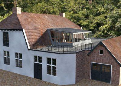 Verbouwing kantoor tot twee woningen Huizen