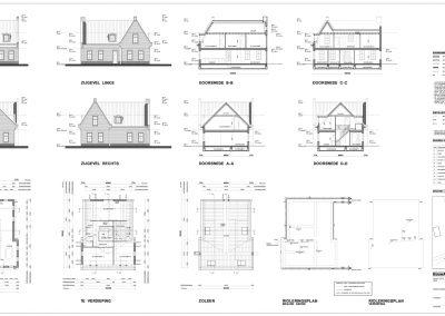 BouwAdviesNL Tekening Omgevingsvergunning Nieuwbouw vrijstaande woning Lopik 3