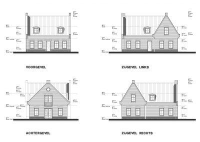 BouwAdviesNL Tekening Omgevingsvergunning Nieuwbouw vrijstaande woning Lopik 4