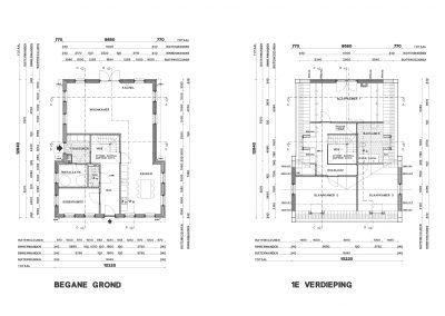 BouwAdviesNL Tekening Omgevingsvergunning Nieuwbouw vrijstaande woning Lopik 5