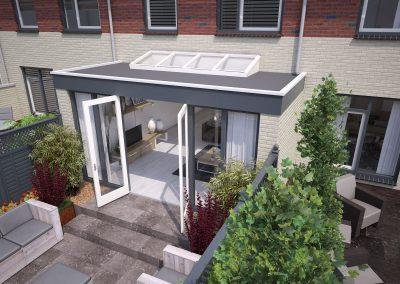 Tekening uitbouw aanvraag vergunning bouwtekening 01 BouwAdvies.NL