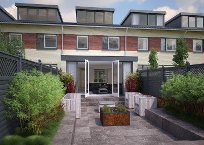 Tekening uitbouw aanvraag vergunning bouwtekening 02 BouwAdvies.NL