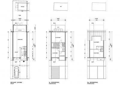 Tekening uitbouw aanvraag vergunning bouwtekening 04 plattegrond BouwAdvies.NL