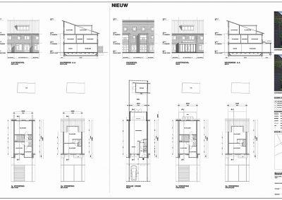 Tekening uitbouw aanvraag vergunning bouwtekening 07 BouwAdvies.NL