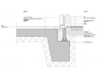 Tekening uitbouw aanvraag vergunning bouwtekening 08 bouwdetail uitbouw BouwAdvies.NL