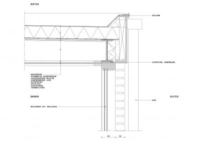 Tekening uitbouw aanvraag vergunning bouwtekening 09 bouwdetail uitbouw BouwAdvies.NL