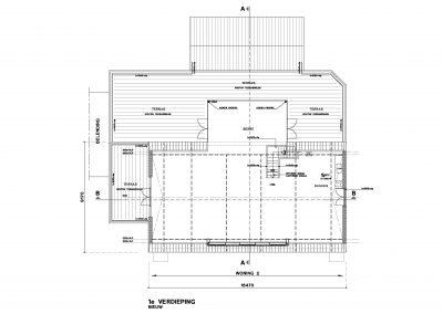 Tekening verbouwing woning vergunningaanvraag 07 tekeningen bestaande situatie BouwAdviesNL