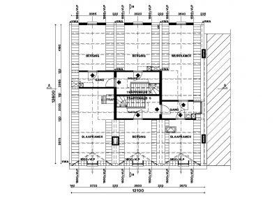 Bestaande situatie inmeten en uittekenen bestaand gebouw 05 Bouwadvies.nl