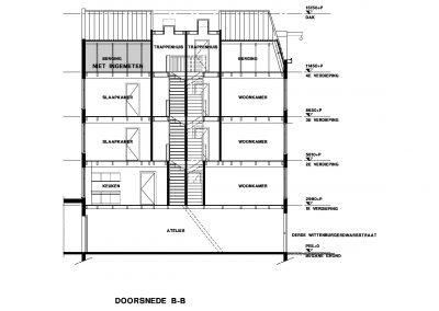 Bestaande situatie inmeten en uittekenen bestaand gebouw 07 Bouwadvies.nl