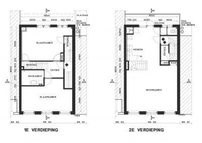 Bestaande woning inmeten en bestaande situatie tekenen 02 Bouwadvies.nl