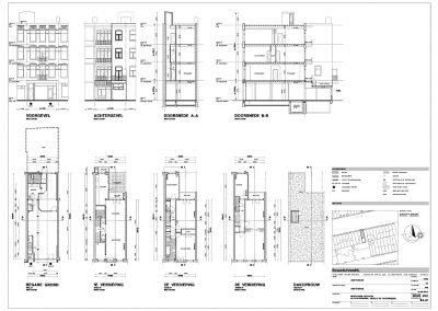 Inmeten bestaande situatie tekening bestaande situatie aanvraag vergunning verbouwing woning 02 BouwAdvies.NL