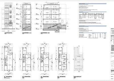 Inmeten bestaande situatie tekening bestaande situatie aanvraag vergunning verbouwing woning 03 Amsterdam