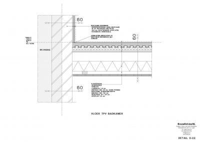 Inmeten bestaande situatie tekening bestaande situatie aanvraag vergunning verbouwing woning 04 Amsterdam