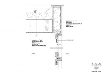 Inmeten bestaande situatie tekening bestaande situatie aanvraag vergunning verbouwing woning 06 Amsterdam