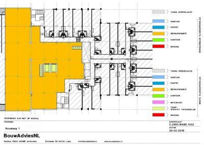 Oppervlakte gebouwen NEN 2580 BVO VVO meetcertificaat NEN 2580 kantoorgebouw 03 BouwAdviesNL