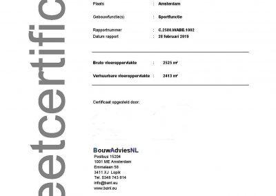 Oppervlakte gebouwen NEN 2580 BVO VVO meetcertificaat NEN 2580 kantoorgebouw 04 BouwAdviesNL