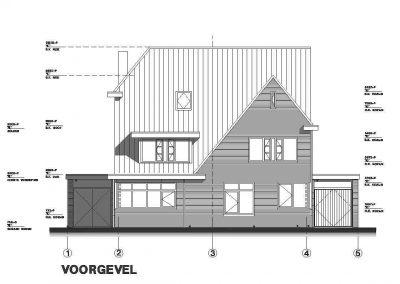 Tekening nieuwbouw woning aanvraag omgevingsvergunning 01 gevel BouwAdviesNL