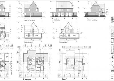 Tekening nieuwbouw woning aanvraag omgevingsvergunning 02 tekeningen maken BouwAdviesNL