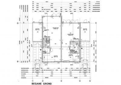 Tekening nieuwbouw woning aanvraag omgevingsvergunning 03 plattegonrd BouwAdviesNL