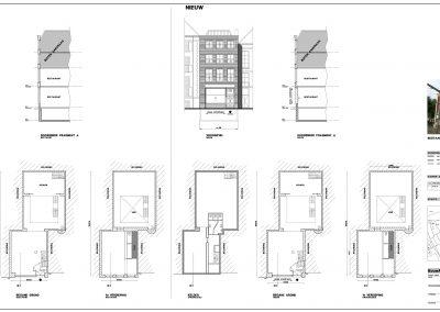 Tekening verbouwing restaurant omgevingsvergunning 03 BouwAdvies Bouwtekening