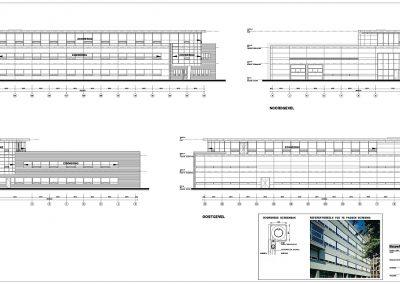 Verbouwing kantoor tekeningen aanvraag vergunning bouwbegeleiding 05 geveltekening BouwAdviesNL