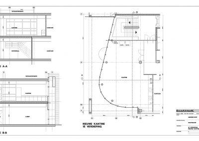 Verbouwing kantoor tekeningen aanvraag vergunning bouwbegeleiding 09 bouwtekening BouwAdviesNL