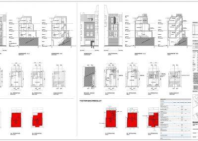 Verbouwing woning Amsterdam tekening aanvraag vergunning dakterras 02 inmeten bestaande situatie BouwAdviesNL