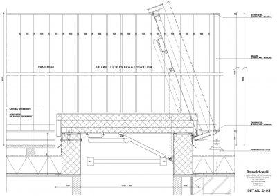 Verbouwing woning Amsterdam tekening aanvraag vergunning dakterras 05 dakterras tekening plattegrond BouwAdviesNL