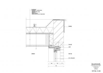 Verbouwing woning Amsterdam tekening aanvraag vergunning dakterras 06 tekening uitbouw BouwAdviesNL
