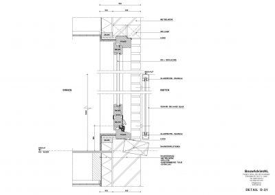 Verbouwing woning Amsterdam tekening aanvraag vergunning dakterras 07 tekening uitbouw BouwAdviesNL
