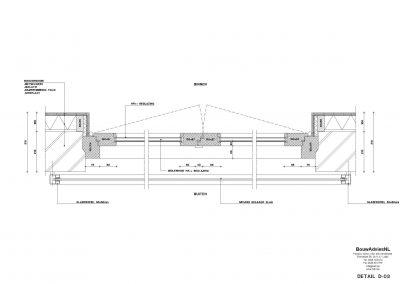 Verbouwing woning Amsterdam tekening aanvraag vergunning dakterras 08 tekening uitbouw BouwAdviesNL