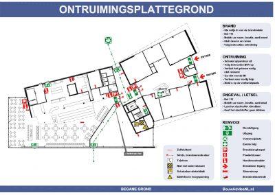 Vluchtplan kantoor ontruimingsplattegrond 002 BouwAdviesNL