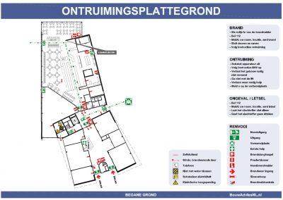 Vluchtplan kantoor ontruimingsplattegrond 003 BouwAdviesNL